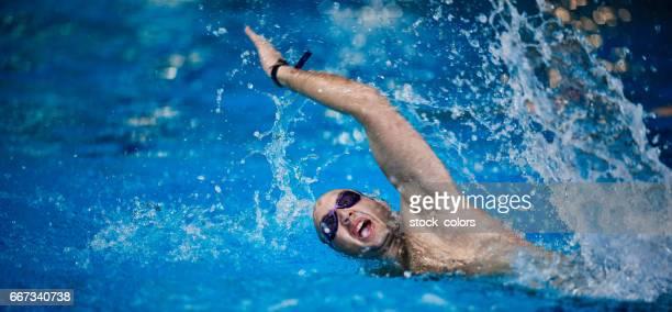 Schwimmer in Aktion