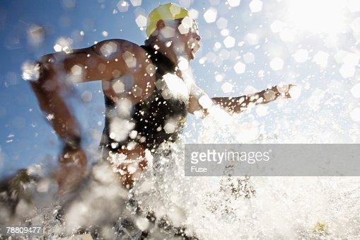 Swimmer in Triathlon