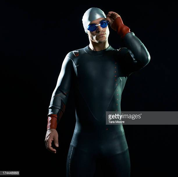 swimmer in wetsuit