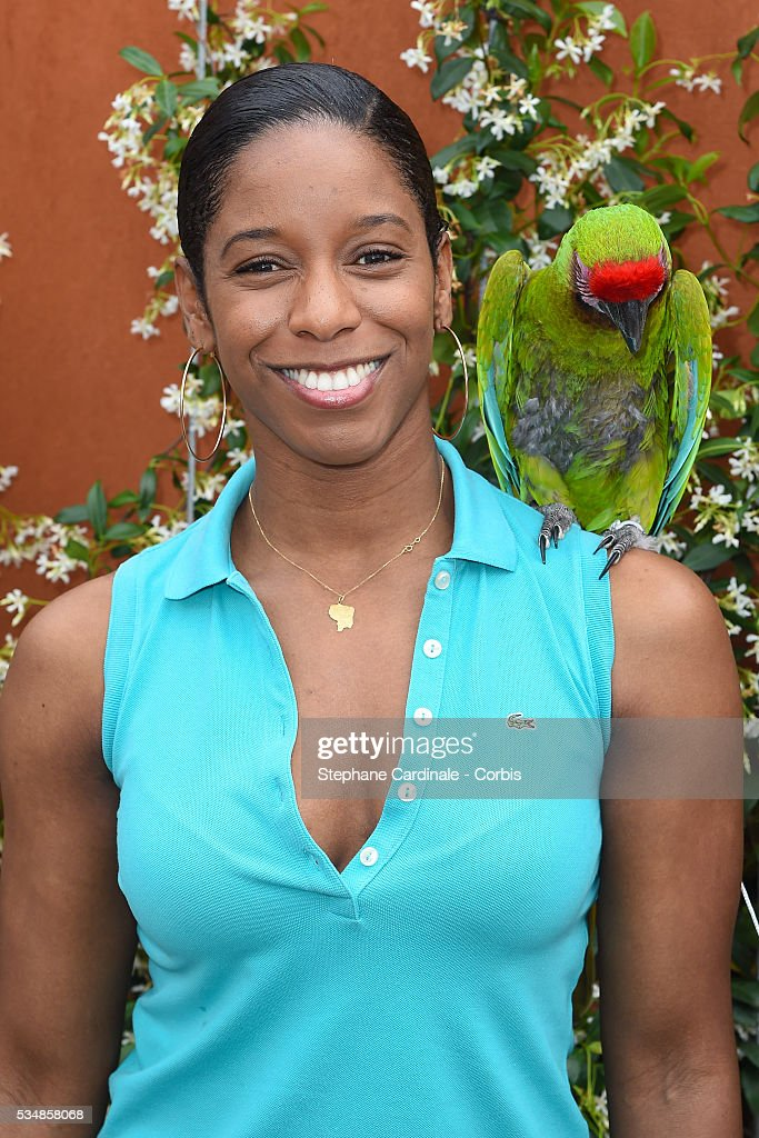 Swimmer <a gi-track='captionPersonalityLinkClicked' href=/galleries/search?phrase=Malia+Metella&family=editorial&specificpeople=745383 ng-click='$event.stopPropagation()'>Malia Metella</a> and parrot attend day seven of the 2016 French Open at Roland Garros on May 28, 2016 in Paris, France.