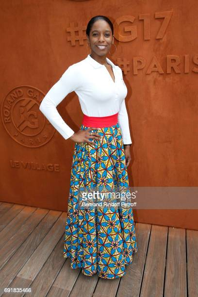 Swimmer Malia Metella attends the 2017 French Tennis Open Day Seven at Roland Garros on June 3 2017 in Paris France