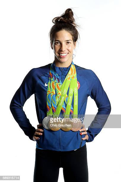 MINIMUM FEES APPLY MINIMUM PRINT/BROADCAST FEE OF 500 USD ONLINE FEE OF 500 USD OR LOCAL EQUIVALENT Swimmer Maya DiRado of the United States poses...