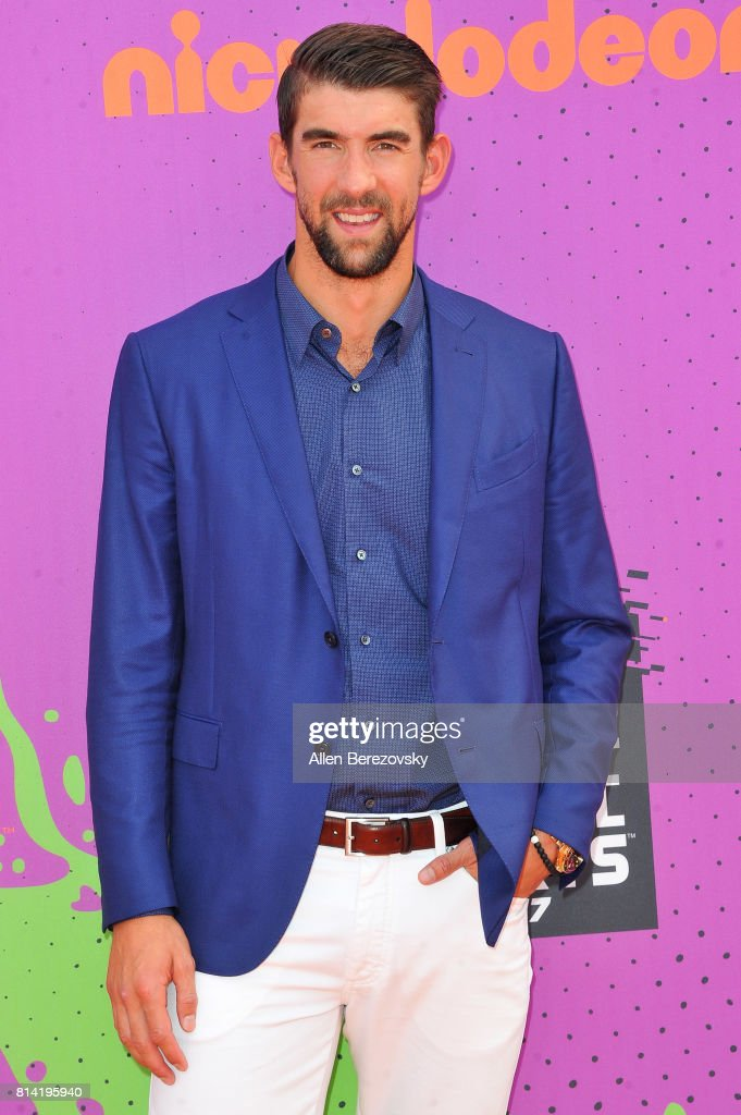 Swimmer Michael Phelps attends Nickelodeon Kids' Choice Sports Awards 2017 at Pauley Pavilion on July 13, 2017 in Los Angeles, California.