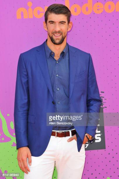 Swimmer Michael Phelps attends Nickelodeon Kids' Choice Sports Awards 2017 at Pauley Pavilion on July 13 2017 in Los Angeles California