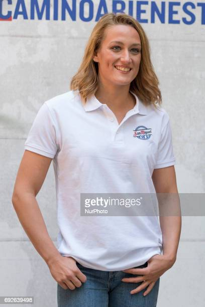 Swimmer Mireia Belmonte attends the '#caminoalbienestar' photocall at Lazaro Galdiano museum on June 5 2017 in Madrid Spain