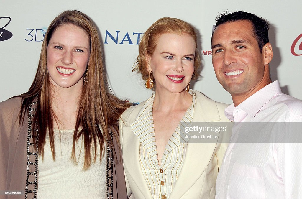 Swimmer Missy Franklin, actor Nicole Kidman and guest attend the Gold Meets Gold Event, held at the Equinox Sports Club Flagship West Los Angeles location on Saturday, January 12, 2013 in Los Angeles, California.
