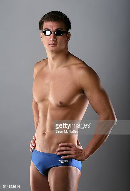 Swimmer Nathan Adrian poses for a portrait at the 2016 Team USA Media Summit at The Beverly Hilton Hotel on March 7 2016 in Beverly Hills California
