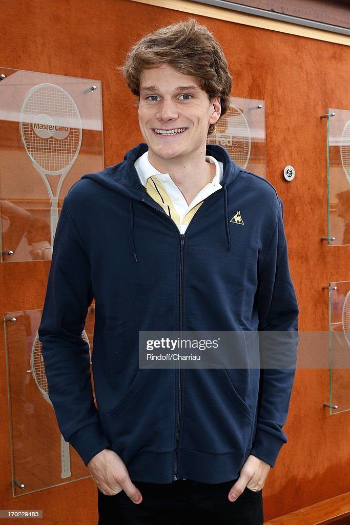 Swimmer Olympic Champion Yannick Agnel sighting at the Roland Garros Tennis French Open 2013 - Day 15 on June 9, 2013 in Paris, France.