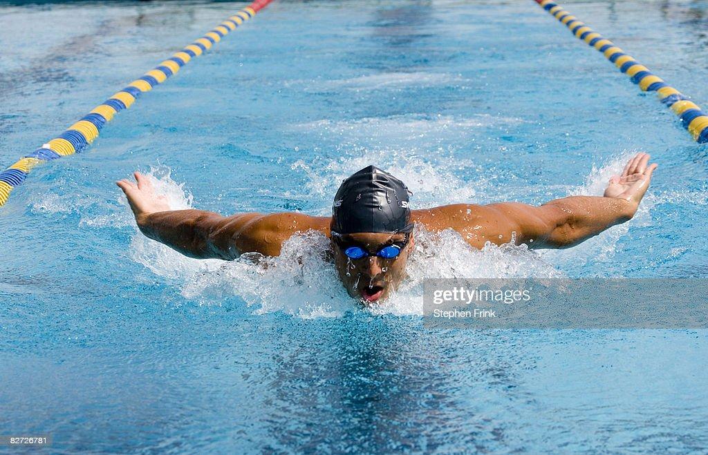 Swimmer performing Butterfly Stroke