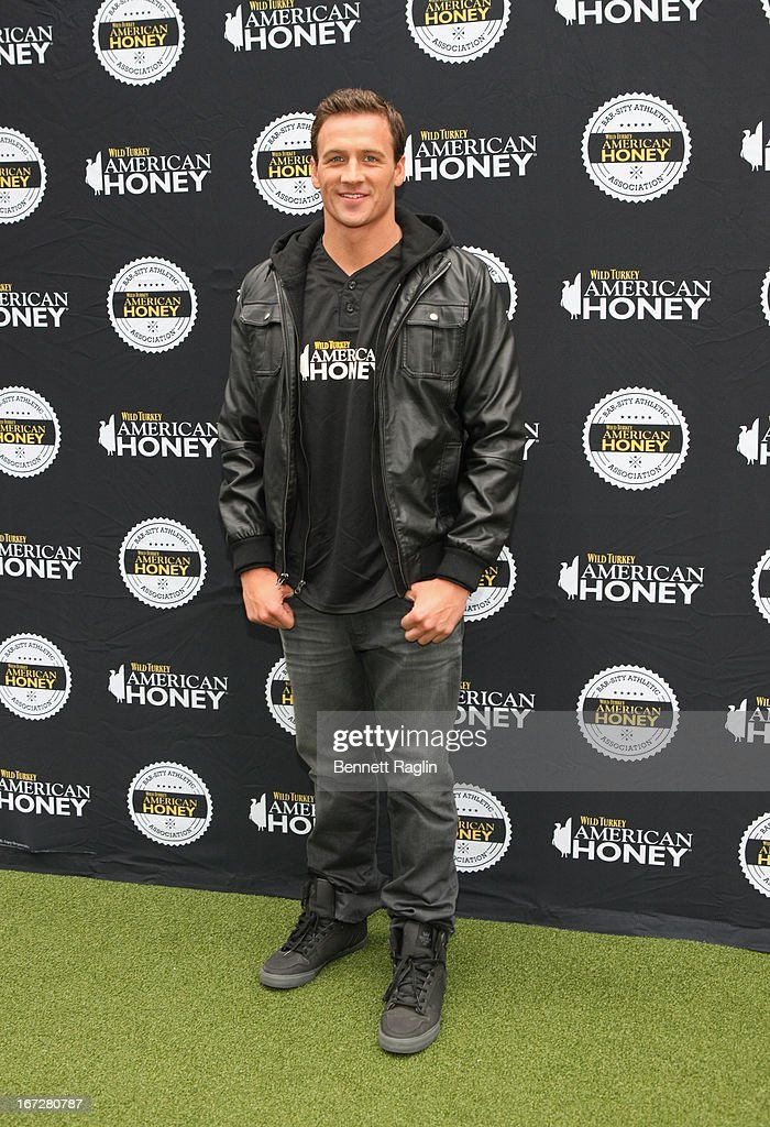 Swimmer <a gi-track='captionPersonalityLinkClicked' href=/galleries/search?phrase=Ryan+Lochte&family=editorial&specificpeople=182557 ng-click='$event.stopPropagation()'>Ryan Lochte</a> attends the 2013 Celebrity Kickball Game in Times Square on April 23, 2013 in New York City.