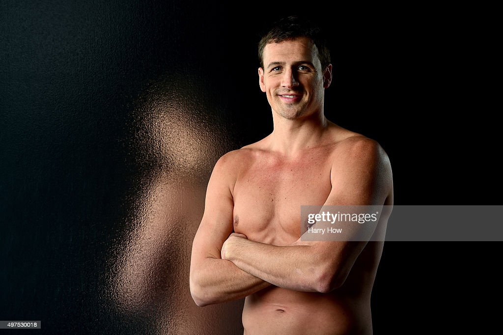 Swimmer Ryan Lochte poses for a portrait at the USOC Rio Olympics Shoot at Quixote Studios on November 17, 2015 in Los Angeles, California.