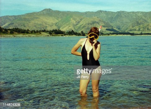 Swimmer with snorkel and mask : Stock Photo