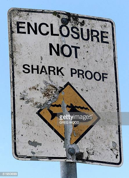 Swimmers beware is the message of this sign shown on Balmoral Beach in Sydney's north 09 July 2000 Although noone has been taken by a shark in Sydney...