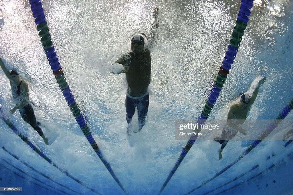 10th Pan Pacific Championships, Underwater view of USA Cullen Jones in action, diving during start of 50M Freestyle Finals at Saanich Commonwealth Place Pool, Victoria, Canada 8/20/2006