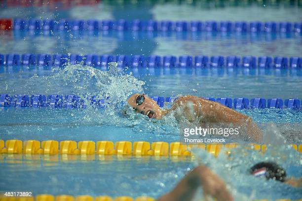 16th FINA World Championships Russia Veronika Popova in action during Women's 200M Freestyle heat at Kazan Arena Kazan Russia 8/4/2015 CREDIT Thomas...