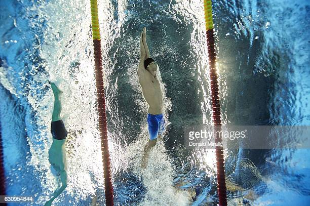 2016 Summer Olympics Underwater view of USA Michael Phelps in action during Men's 200M Butterfly Final at Rio Aquatics Centre Rio de Janeiro Brazil...