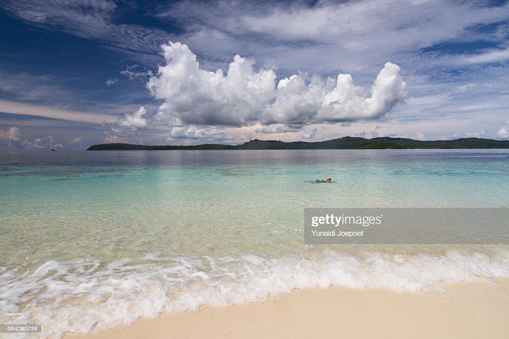 Swimming in Tropical Island