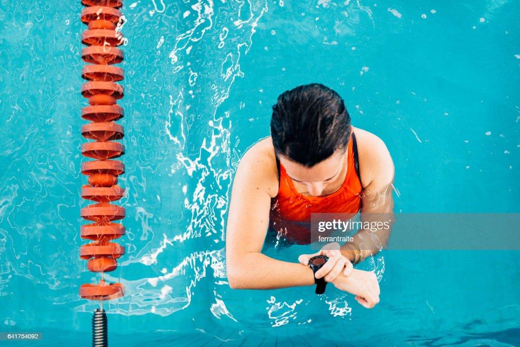 Swimming lap counter watch : Photo