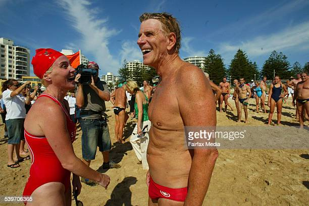 Swimming legends Susie Maroney and Murray Rose during the Back to the Beach carnival at North Cronulla 21 January 2006 SHD NEWS Picture by DALLAS...
