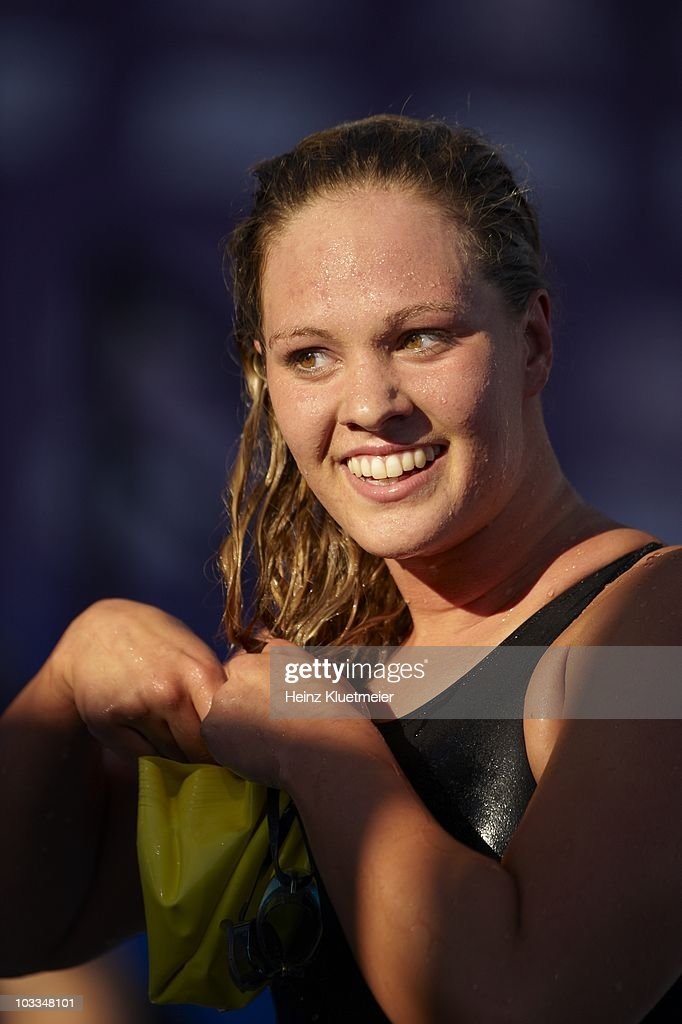 Closeup of <a gi-track='captionPersonalityLinkClicked' href=/galleries/search?phrase=Chloe+Sutton&family=editorial&specificpeople=710961 ng-click='$event.stopPropagation()'>Chloe Sutton</a> after Women's 800M Freestyle Final at William Woollett Jr. Aquatics Center. Irvine, CA 8/7/2010
