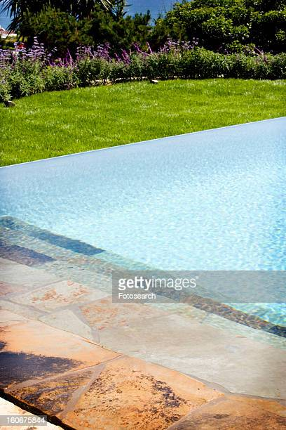 Swimming pool and stone deck