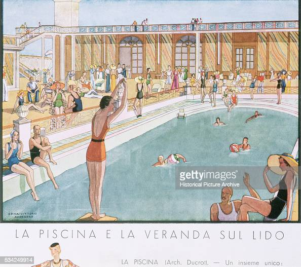 Swimming Pool And Terrace Area On Rex Liner By Edina Vittorio Pictures Getty Images