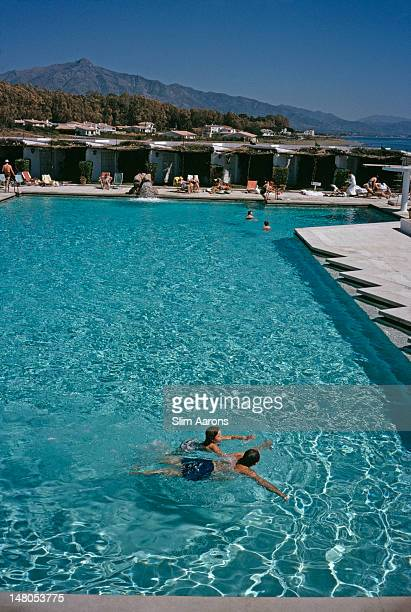 A swimming pool at a beach resort in Marbella Spain April 1963