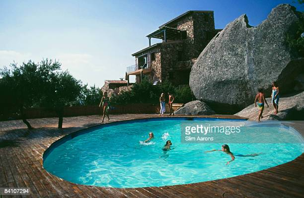 A swimming pool at Villaggio Rosarda in Porto Rotondo Italy August 1982