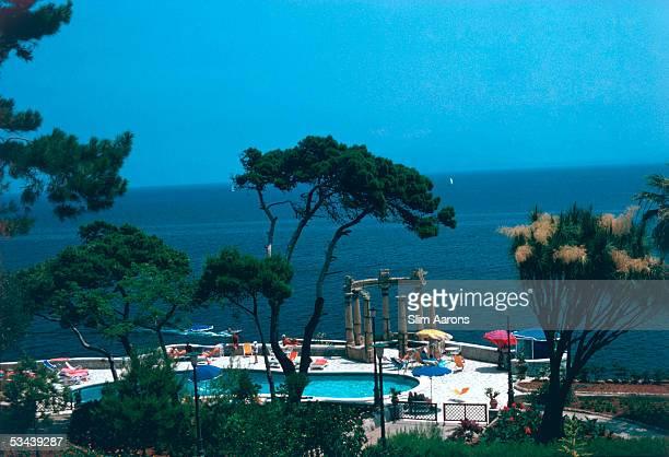 A swimming pool in Taormina Sicily 1975