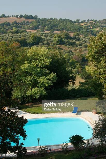 Swimming pool in the Tuscan hills near Manciano