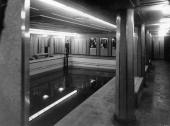 Swimming Pool onboard the second class of the passenger ship Queen Mary Southampton UK March the 3rd 1936 [Swimming Pool der zweiten Klasse auf der...