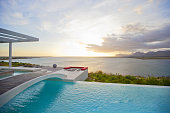 Swimming pool overlooking ocean