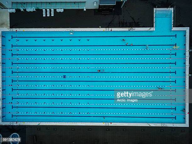 Swimming pool, view from above.