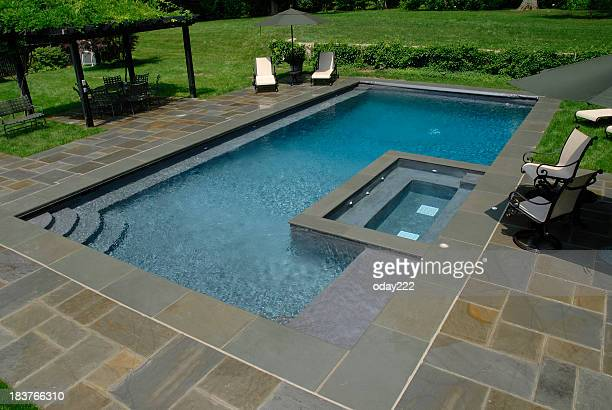 Swimming Pool with Flagstone