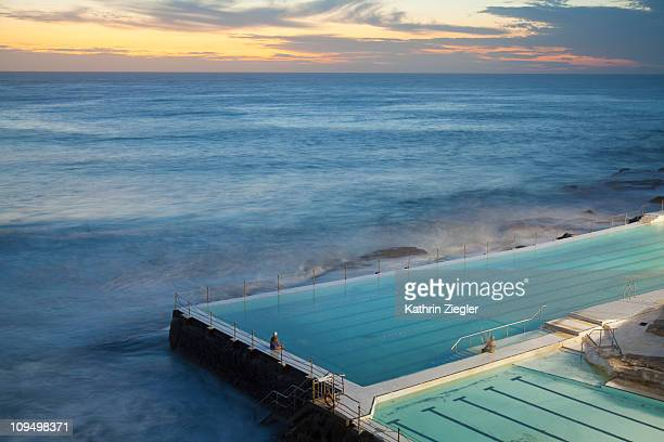 swimming pools at Bondi Beach, before sunrise