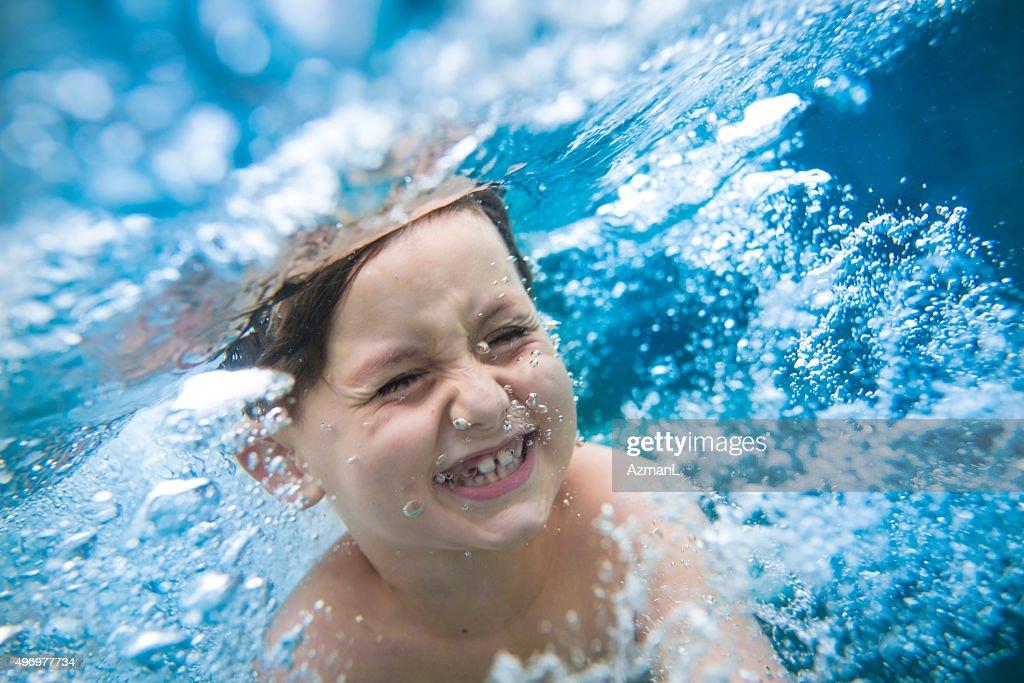 Swimming Underwater : Stock Photo
