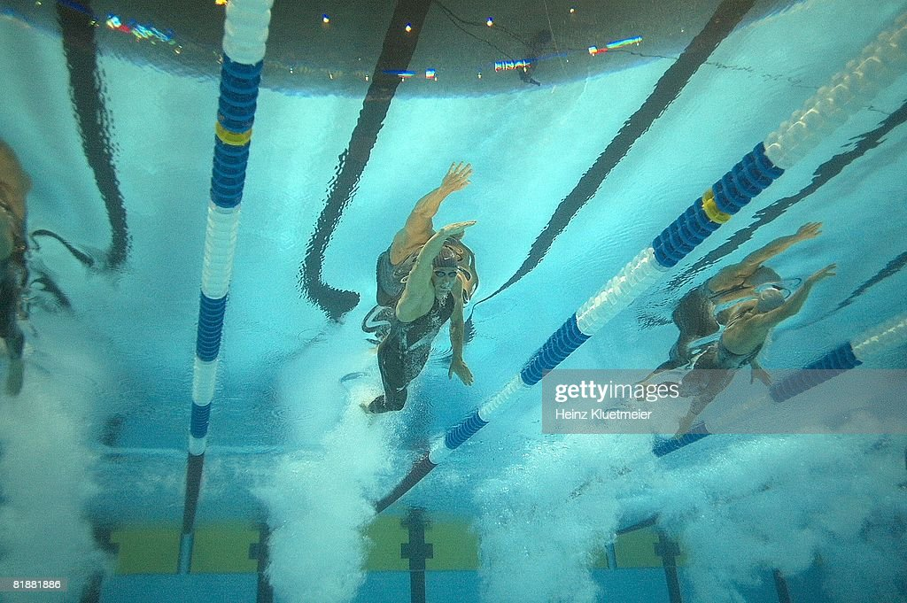 underwater view of jason lezak in action during 100m freestyle final at qwest center omaha