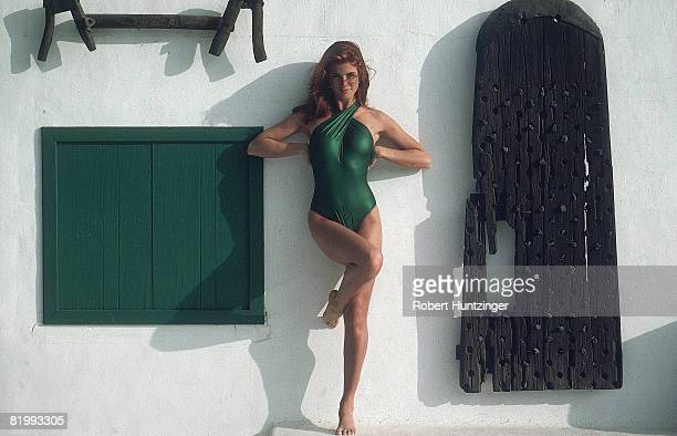 Swimsuit 1992 Issue Model Angie Everhart poses for 1992 Sports Illustrated Swimsuit issue on November 1 1991 in Girona Spain PUBLISHED IMAGE CREDIT...