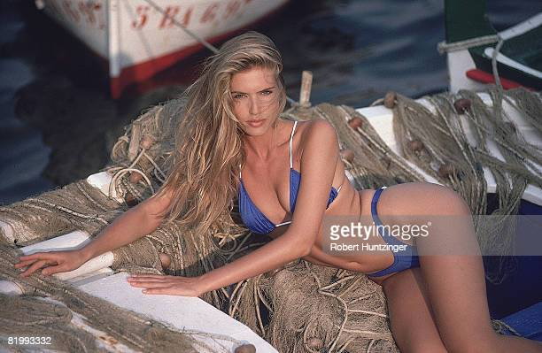 Swimsuit 1992 Issue Model Judit Masco poses for 1992 Sports Illustrated Swimsuit issue on November 1 1991 on Cadaques Island in Girona Spain...