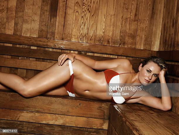 Swimsuit 2010 Issue Portrait of Winter Olympics Team USA alpine skiing athlete Lindsey Vonn during photo shoot at Whistler Blackcomb in British...