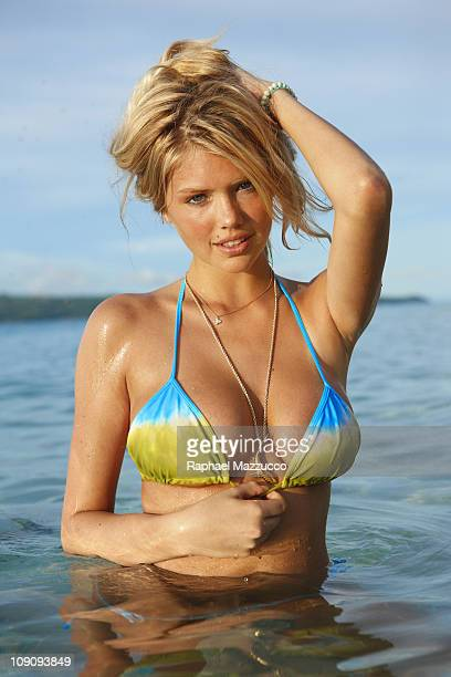Model Kate Upton poses for the 2011 Sports Illustrated Swimsuit issue on October 9 2010 on La Boracay Island in the Philippines PUBLISHED IMAGE...