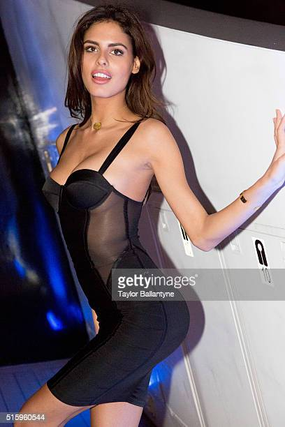 2016 SI Swimsuit Launch Week Portrait of Bo Krsmanovic posing during Swimsuit at Sea yacht party aboard SeaFair Fan Festival at Lummus Park Miami FL...