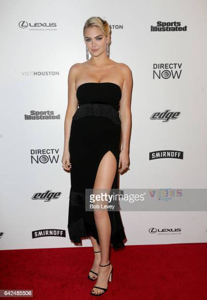 Swimsuit cover model Kate Upton at the VIBES by Sports Illustrated Swimsuit 2017 launch festival on February 17 2017 in Houston Texas