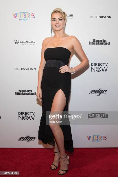 Swimsuit cover model Kate Upton attends the VIBES by Sports Illustrated Swimsuit 2017 launch festival at Post HTX on February 17 2017 in Houston Texas