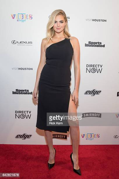 Swimsuit cover model Kate Upton attends the VIBES by Sports Illustrated Swimsuit 2017 launch festival on February 18 2017 in Houston Texas