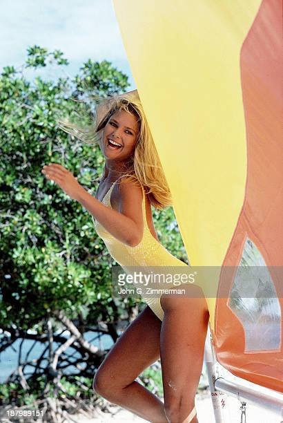 Swimsuit Issue 1980 Model Christie Brinkley poses for the 1980 Sports Illustrated Swimsuit issue on November 23 1979 in the British Virgin Islands...