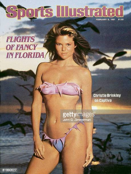 Swimsuit Issue 1981 Model Christie Brinkley poses for the 1981 Sports Illustrated swimsuit issue on January 2 1981 on Captiva Island Florida Bikini...
