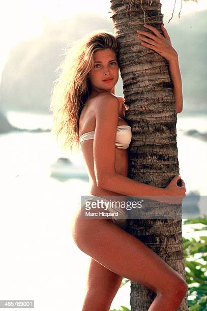 Swimsuit Issue 1989 Model Stephanie Seymour is photographed for the 1989 Sports Illustrated Swimsuit issue on January 2 1989 at Costa Careyes in...
