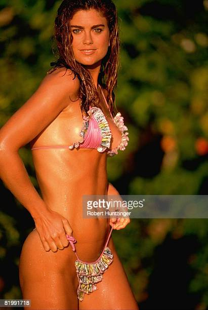 Swimsuit Issue 1992 Model Kathy Ireland poses for the 1992 Sports Illustrated Swimsuit issue on October 1 1991 on Lanzarote Island Spain CREDIT MUST...