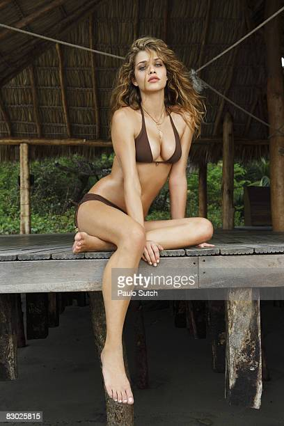 SAN JUAN DEL SUR NI Swimsuit 2008 Issue Portrait of Ana Beatriz Barros wearing bikini by Ondademar at Morgan's Rock Hacienda and EcoLodge Published...